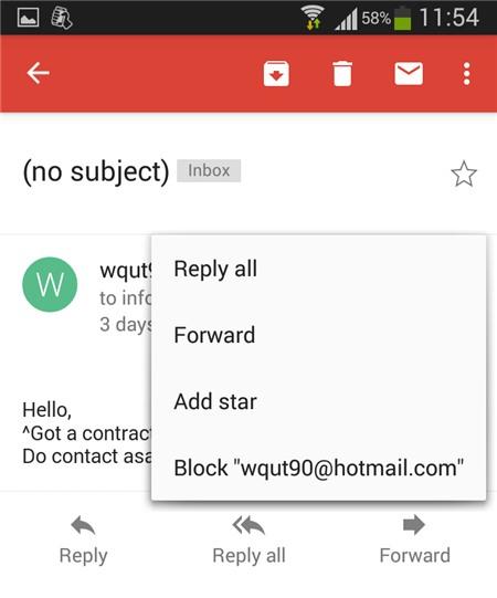 Cách chặn triệt để thư rác trong Gmail Android