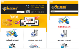 Thiết kế website trên nền Mobile