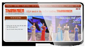 Thiết kế website Cty CP TĐ Truyền Thông Thanh Niên