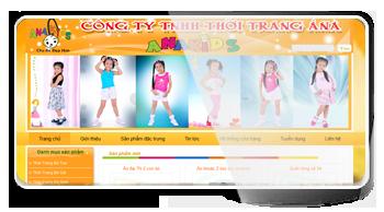 Thiết kế website Công Ty TNHH Thời Trang Á Na