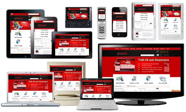 thiết kế web chạy trên điện thoại